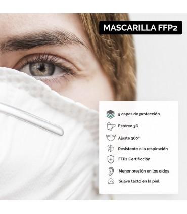 MASCARILLA FFP2 BOLSA AUTOCIERRE 5 UD.